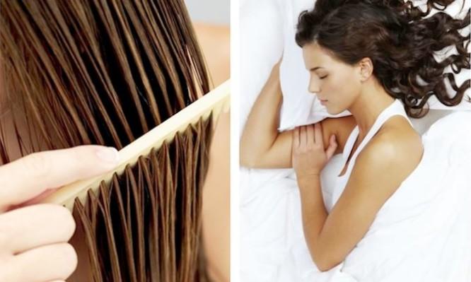 βρεγμένα μαλλιά