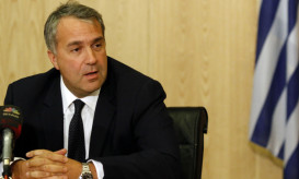 Newly appointed Minister for Infrastructure,Transport and Networks Mavroudis Voridis speaks