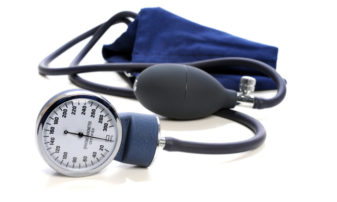 Sphygmomanometer Over White Background