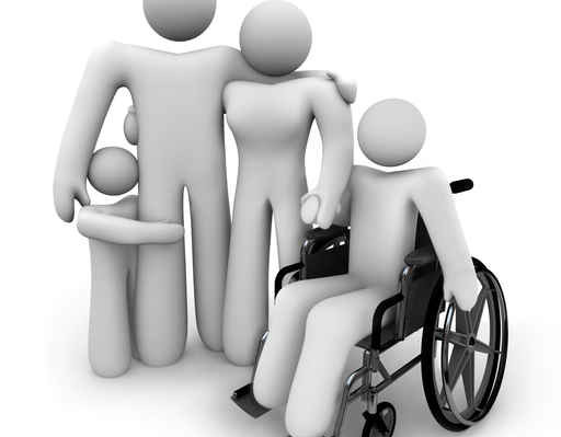 Family Together - Parents and Kids, Wheelchair