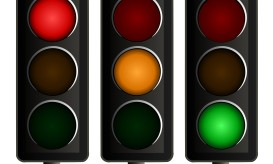 Traffic Lights Vector - Set of Three