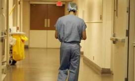 surgeon walking