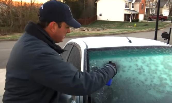 πάγος στο παρμπρίζ