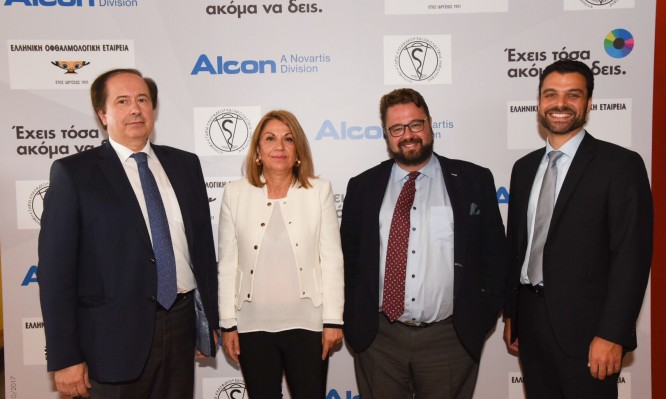 Speakers at Alcon's Press Conf. Cataract Awareness Campaign 2017