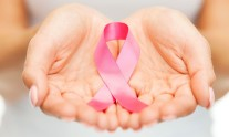 Breast cancer hands symbol
