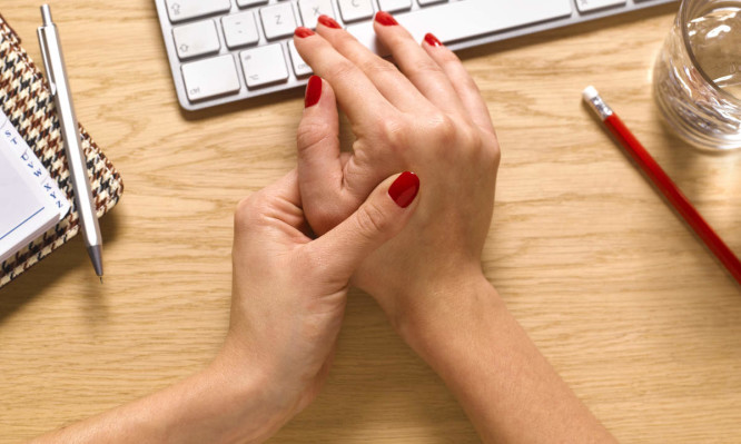 Computer keyboard and repetitive strain injury