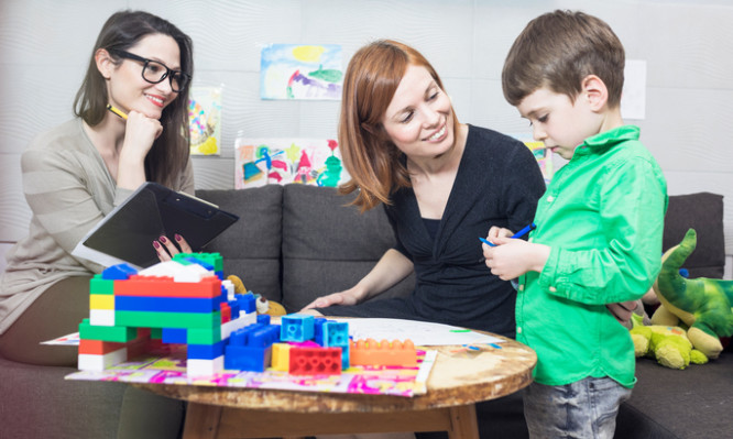 School counsellor, pupil and parent discussion