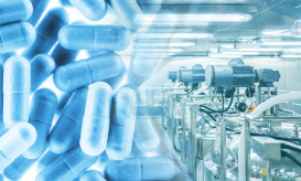 pharmacy plants with capsule medicines